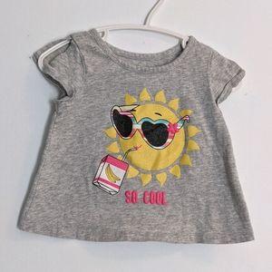 Cute summer t shirt with sun
